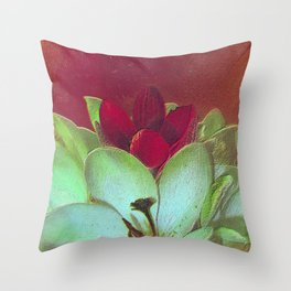 Crocus Abstract Throw Pillow