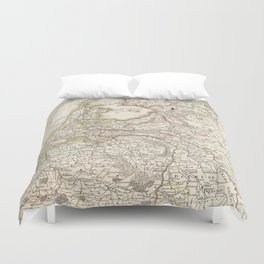 Vintage Map of Holland and Belgium (1775) Duvet Cover