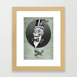 A smart death  Framed Art Print