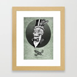 A smart death  Framed Art Print