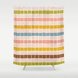 colorful pattern with geometric squares Shower Curtain