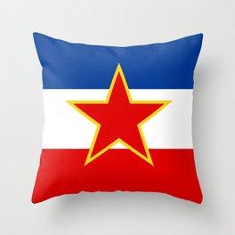 Flag of Yugoslavia Throw Pillow