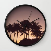 florida Wall Clocks featuring Florida by Whitney Retter