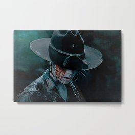 Carl Grimes Shot In The Eye - The Walking Dead Metal Print