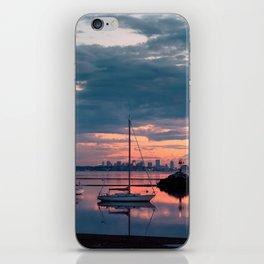 Sunset in Boston iPhone Skin