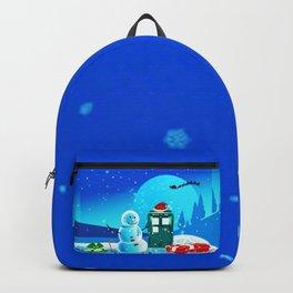 Tardis With Snow Ball Gift Christmas Backpack