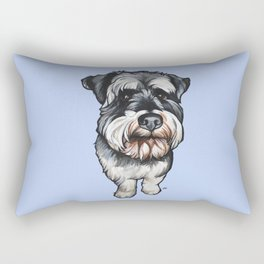 Barney the Miniature Schnauzer Rectangular Pillow