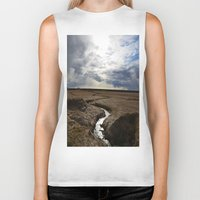 iceland Biker Tanks featuring iceland by katie moon