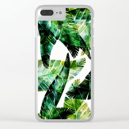 Green leaves of a banana. 2 Clear iPhone Case