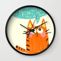 mew Wall Clocks featuring mew. by TangerineCafé