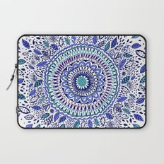 Indigo Flowered Mandala Laptop Sleeve