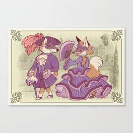 The Shiba and the Fox Canvas Print