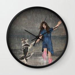 Amor Fati or Dancing in the Rain Wall Clock