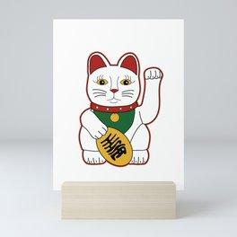 Maneki Neko - lucky cat Mini Art Print