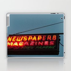 Vintage Neon Newstand Sign ~ Chicago Architecture Laptop & iPad Skin