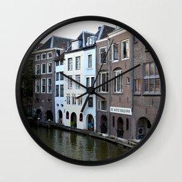 Water and bricks Wall Clock