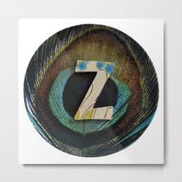 Love Letters to Dinnerware - Z Metal Print