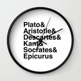 Helvetica Philosophers Wall Clock