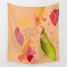 """""""More Than Anything, I Hope You Know, Though The Road Is Long And Lined With Questions, You Will Never Travel Alone."""" Wall Tapestry"""