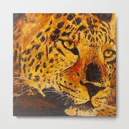Leopard's Stare Metal Print