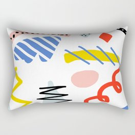 Memphis Zazzle Rectangular Pillow