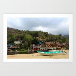 Dreamy Mexican Beach Day Art Print