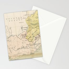 Vintage Map of South Africa (1882) Stationery Cards
