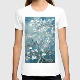 Vincent Van Gogh Almond Blossoms Teal T-shirt