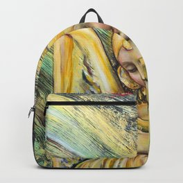 ANGELS AND NEURONS. Oil on canvas Backpack