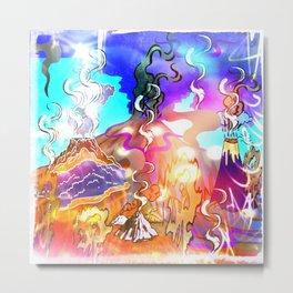 Ooze Like Lava Metal Print