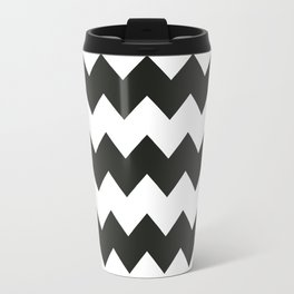 Black & white chevron pattern Travel Mug