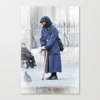 spanish Canvas Prints featuring Spanish Nun  by Rob Hawkins Photography