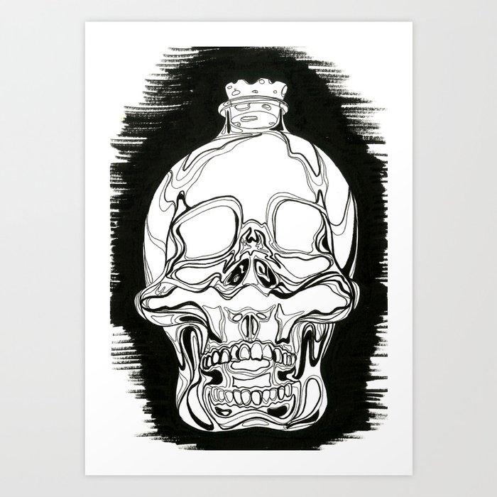 Antique Skull Jar Art Print By Gabbiebraun