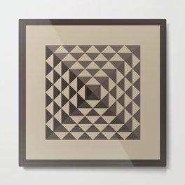 Triangular Mesh II Metal Print