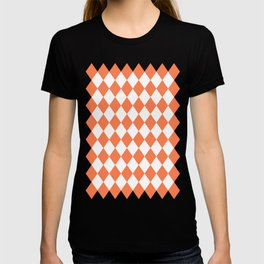 Diamonds (Coral/White) T-shirt