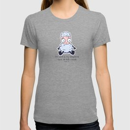 The Lord is my Shepherd Psalm 23:1 Sheep White T-shirt
