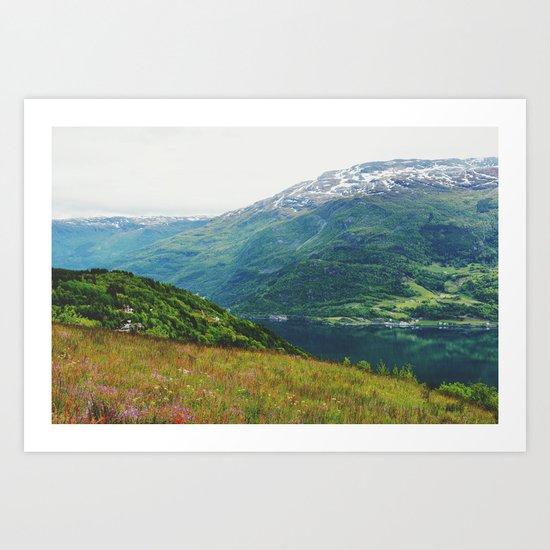 norwegian west Art Print