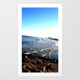 Rocks and Waves Art Print