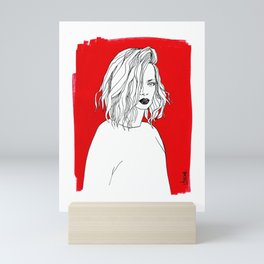RED SHIRLEY MANSON Mini Art Print