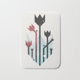 Space Tulips Bath Mat