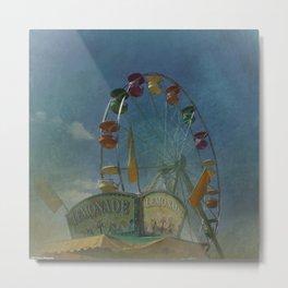 Textured Ferris Wheel Metal Print