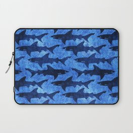 Sharks in the Blue, Blue Sea Laptop Sleeve
