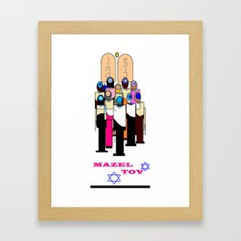 A Bar/Bat Mitzvah, Celebration, Mazel Tov Framed Art Print