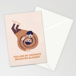 You Are My Favorite Weighted Blanket (Navy) Stationery Cards