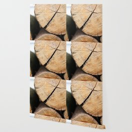 Wood Pile Wallpaper