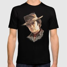 Clint Eastwood tribute Black Mens Fitted Tee LARGE
