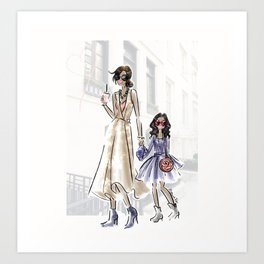 Stylish Mini Me Art Print
