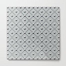 Studded Checkerboard Light on Slate Green Mist 1 Metal Print