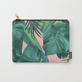 Tropical Summer Jungle Leaves Dream #1 #tropical #decor #art #society6 Carry-All Pouch