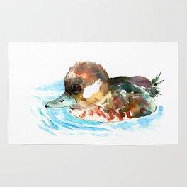 Duck, Bufflehead Duck baby Wild Duck Rug